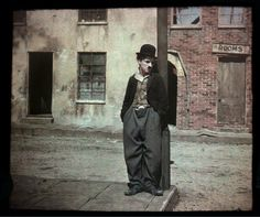Autochrome portrait of Charlie Chaplin, Hollywood, Calif., circa 1917 - 1918  © George Eastman House/Charles Zoller/The Image Works