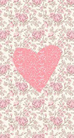 Fondo de pantalla de corazón rosa / a wallpaper of a pink heart