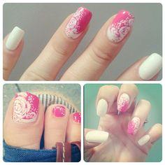 Summertime moon manicure