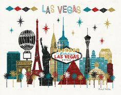 Las Vegas Skyline, Artwork © Michael Mullan
