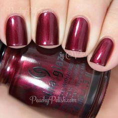 China Glaze Fall 2013 Autumn Nights Collection - Red-y & Willing Nail Polish Dupes, Nail Polish Colors, Gel Polish, Nail Polishes, Uv Gel Nails, Diy Nails, Essie Gel, Opi, Love Nails