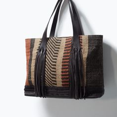 FRINGED FABRIC SHOPPER BAG - Handbags - Woman - COLLECTION SS15 | ZARA Serbia