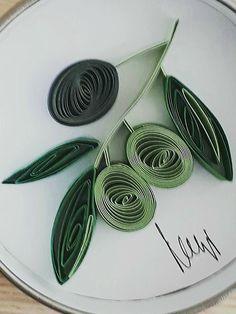 Mediterranean Olives #QuillingByAslim #quilling #paperart #paper #papel #papier #homedecor #handmade #gift #giftideas #olives #Mediterranean #kağıttelkari #elişi #zeytin #Akdeniz #hediyelik #magnet