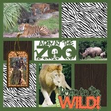 zoo scrapbook layouts - Google Search