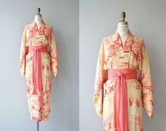 Miss Paige wrap gown  1940s dressing gown  vintage 40s dress