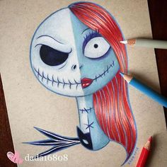 This illustrator has fun mixing famous characters to create a single face – Dessins disney Disney Drawings Sketches, Cute Disney Drawings, Cool Art Drawings, Cartoon Drawings, Easy Drawings, Cartoon Art, Drawing Sketches, People Drawings, Pencil Drawings