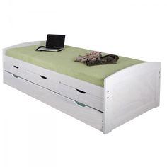 Zvýšená postel Marinella 8806B s přistýlkou 90x200 bílá borovice