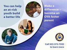 Make a difference - become an OYA foster parent, by the Oregon Youth Authority