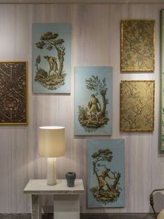 Carolle Thibaut-Pomerantz's booth at the Winter Antiques Show | archdigest.com