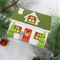 Christmas Paper Crafts, Christmas Fun, Christmas Cards, Make A Gingerbread House, Neat And Tangled, Honey Bee Stamps, I Card, Card Case, Bee Cards