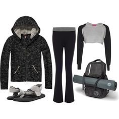 Bouclé Hoodie After Yoga by jenzeppelin on Polyvore