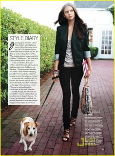 LOOK AT THE BRICK AND THE BUSHES...PERFECT WITH THE WHITE HOUSE...<3 THIS!!! Jessrocket: Nina Dobrev's style