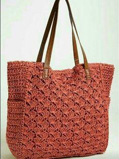 간단한 모티브로 뜨개 가방을~ 멋찌네요~^^
