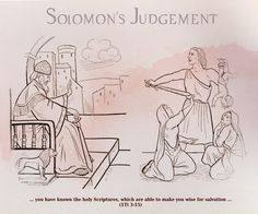 Solomon's judgement give us teaching about true mother, God the Mother.