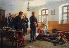 Franco-Prussian War - Kronprinz Friedrich Wilhelm an der Leiche des Generals Abel Douay - Artist: Anton von Werner. - http://de.wikipedia.org/wiki/Abel_Douay