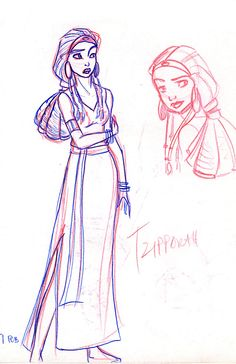 Tzipporah from The Prince of Egypt Drawing Cartoon Characters, Character Drawing, Cartoon Drawings, Character Design, Dreamworks Animation, Animation Film, The Bible Movie, Prince Of Egypt, Comic Styles