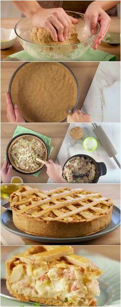 Torta de palmito facinho de fazer! #palmito #torta #lanche #receita #gastronomia #culinaria #comida #delicia #receitafacil