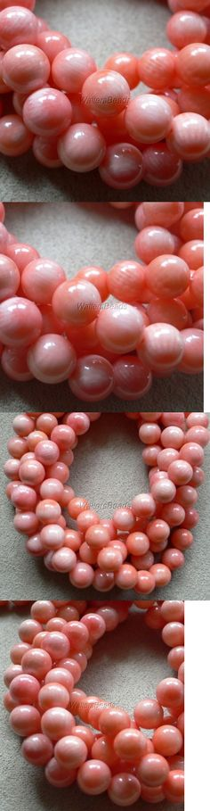 Shell Bone Coral 14317: Reef Coral Bead Strand Angelskin Peach Pink 6 Mm 16 Wholesale (3 Strands) BUY IT NOW ONLY: $115.0