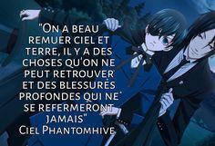 Black Butler Ciel, Anime Fr, Otaku Anime, Ciel Phantomhive, Citations Film, L Death, Black Buttler, Mirai Nikki, Positive And Negative