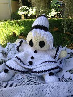 Crochet Doll Pierro Doll Clown Doll Bed Doll by BabyNest on Etsy