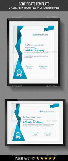 Certificate psd templates certificate and template multipurpose certificates certificate templatescertificate of meritaward yelopaper Gallery