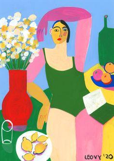 "Juxtapoz Magazine - Juxtapoz x If You Were Here Now x Ana Leovy ""Summer Print"" For Lebanese Red Cross Art Inspo, Pop Art, Queer Art, Art Et Illustration, Summer Prints, Cool Posters, Figurative Art, Cute Drawings, Amazing Art"