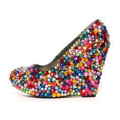 amazing bejeweled gumball looking shoes. yum  http://www.ashburyskies.com/haus-of-price-endeavor-wedge/