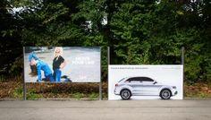 La massima aderenza di #AudiQuattro in un #billboard #unconventional!