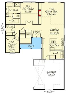 Two Master Suites Ranch Plans Pinterest Dining