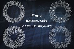 Check out Round vector indian-style frames by IlirisDesign on Creative Market