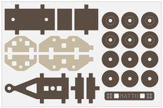 Matto TRAILER - Laser, saw, milling machine - 1 cm wooden board - toy