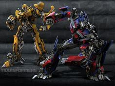 Transformers.....gotta love bumblebee and optimus prime