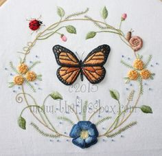 This pattern pack has complete instructions and can be stitched either as a stumpwork project or regular surface embroidery. Thanks for visiting The Floss Box on Etsy