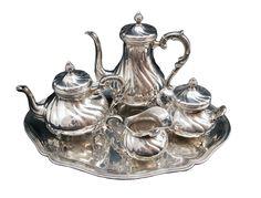 5-teiliges Kaffee- und Teeservice - Silber - Jugendstil - Antiquitäten - Antik - Möbel