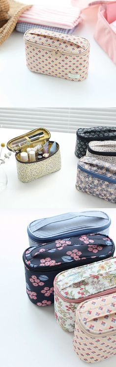 With a deep compartment which can hold many different cosmetics and a mesh pocket to hold slim and long items, the Warm Breeze Cosmetic Pouch makes a perfect daily cosmetic pouch! As the compartment can hold travel size toiletries and cosmetics, it can be a wonderful travel pouch too!