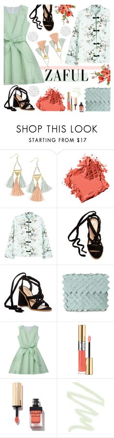"""""""zaful day dress"""" by imnotyourstyle ❤ liked on Polyvore featuring NAKAMOL, Bobbi Brown Cosmetics, MANGO, ZiGiny, Clemsa, Yves Saint Laurent and Dolce&Gabbana"""