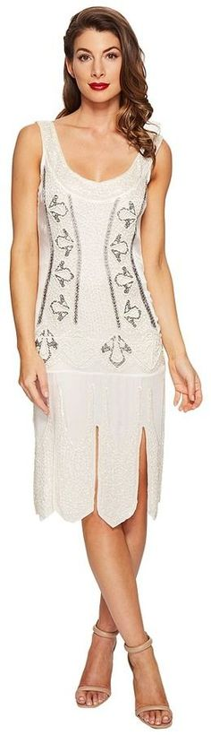 Unique Vintage - Sateen Beaded Eli Flapper Dress Women's Dress [afflink]