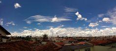 Panorama mostrando as nuvens de algodão do dia de hoje 25.02.2015 Franca(SP)Brasil