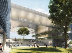 First phase of SHoP Architects' Fulbright University Vietnam masterplan breaks ground Concept Architecture, Landscape Architecture, Architecture Design, University Architecture, Vietnam Location, Shop Architects, Ho Chi Minh City, Green Building, Urban Design