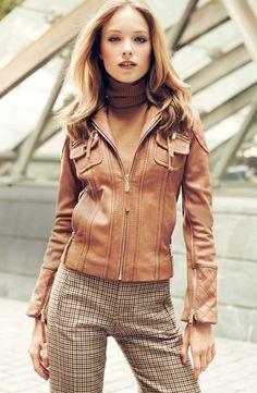 Zip to it! MICHAEL Michael Kors leather hoodie jacket