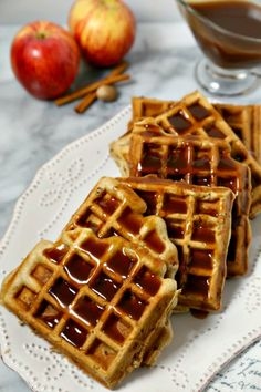 These delicious Apple Pancetta Waffles with Bourbon Cider Syrup from ...
