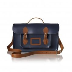 Navy and Vintage two tone Batchel from Cambridge Satchels One Bag, Cambridge Satchel, Signature Style, Purse Wallet, Satchel Bag, Purses, Messenger Bags, Satchels, My Style