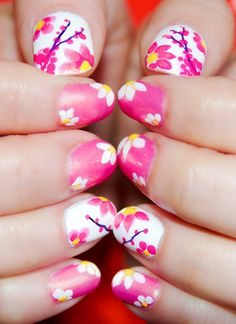 Click on the link to see how to do Spring Nails. http://www.thedocndiva.com/2013/04/spring-inspired-nail-art-step-by-step.html