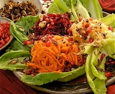 Salad Simanim~ all the omens in one beautiful dish