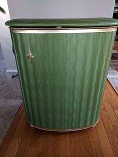 Vintage Detecto New York Green Starburst Laundry Clothes Hamper Laundry Storage, Storage Baskets, Bag Storage, Storage Bags For Clothes, Clothes Basket, Laundry Hamper With Wheels, Double Hamper, Hampers Uk, Bamboo Shelf