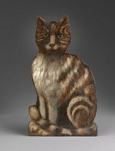 Robert Young Antiques Folk Art Collection - Dummy Board of a Cat c.1880 #AntiqueFolkArt