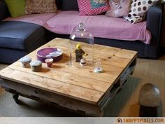 DIY Pallet Sofas And Coffee Table