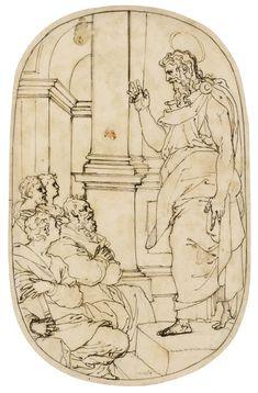 Pietro Buonaccorsi, called Perino del Vaga - Saint Paul preaching in Athens dans immagini sacre 0aa4232ae0c2ccc9459a7c885ee74220