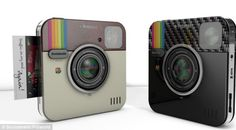 The instagram camera contain a mini printer so it can produce postcards instantly  폴라로이드 신제품..내년 출시 예정..워너비..ㅋㅋ