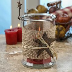 Rustic Hanging Glass Candle Holder - New Items